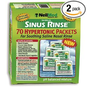 Neilmed's sinus rinse pre-mixed hypertonic packets, 70-count boxes (pack of 2)