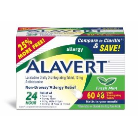 Alavert od tab, fresh mint flavor, 48+12 (bonus 60)-count box