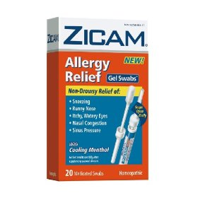 Zicam allergy relief gel swabs,  20-count box