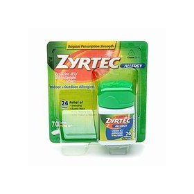 Zyrtec allergy tablets - 70 count