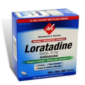 Loratadine 10 mg non drowsy claritin generic compare to the active ingredient in claritin - 360 tablets