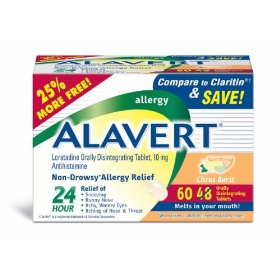 Alavert loratadine allergy orally disintegrating tablets citrus burst, 60-count box