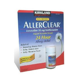 Kirkland   allerclear loratadine 10 mg antihistamine tablets, 300-count bottle