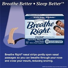 Breath right nasal strips clear med/sm 50ct