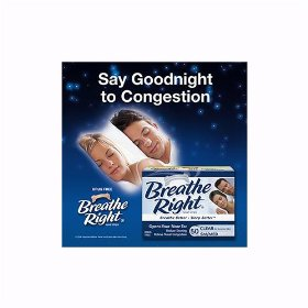 Breathe right nasal strips, small/medium, clear, 50-count boxes (pack of 2)