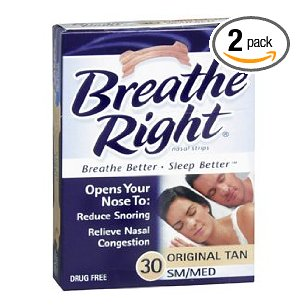 Breathe right nasal strips, small/medium