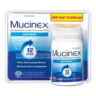 Mucinex extended release, bi-layer tablets, 60 ct