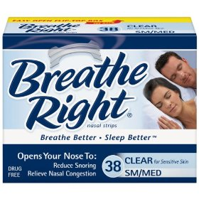 Breathe right-nasal strips clear sm/med, 115ct. (3 pack of 38)
