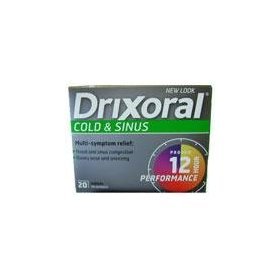 Disphoral (drixoral) cold & sinus 12hr - 20 tablets