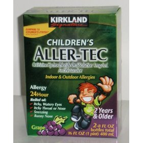 Generic children's cetirizine hydrochloride oral solution 16 oz from kirkland