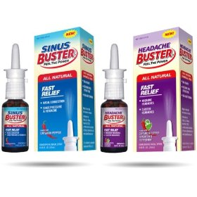 Sinus buster fast relief nasal spray with free headache buster
