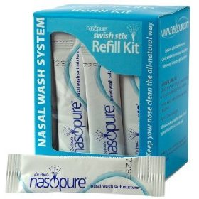 Neti pot salt / saline solution refill kit by nasopure