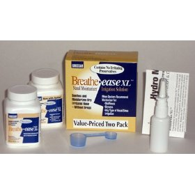 Grossan breathe-ease nasal moisturizing and irrigation solution kit (double pack)