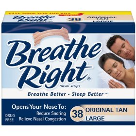 Breathe right-large tan nasal strips, 76ct (2 pack)