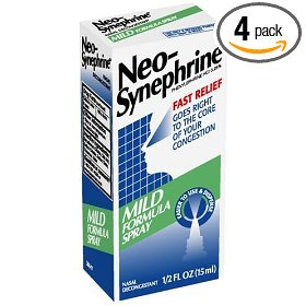 Neo-synephrine nasal spray, mild formula, .5-ounce bottles (pack of 4)