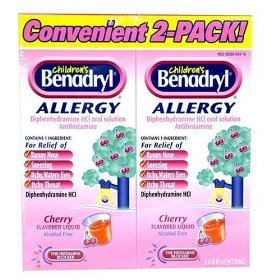 Children's benadryl allergy cherry flavor (2 x 8 fl oz) bonus pack