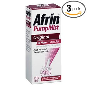 Afrin 12 hour pump mist, original, 0.5-ounce (15 ml) (pack of 3)