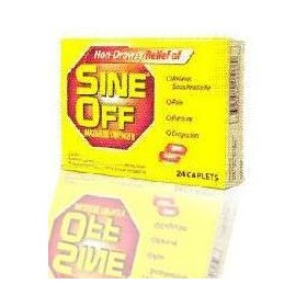 Sine off maximum strength, non-drowsy caplets 24 ea