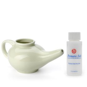 Neti pot starter kit with 1.5 oz aromatic salt original neti pot salt