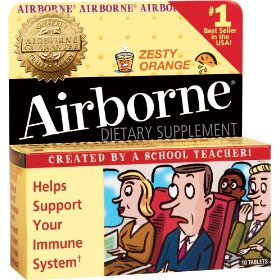 Airborne effervescent health formula, zesty orange, 30-count boxes