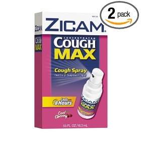 Zicam cough max cough spray, cool cherry, .55-ounce bottle (pack of 2)