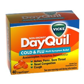 Vicks dayquil cold & flu relief liquicaps, 40-count box