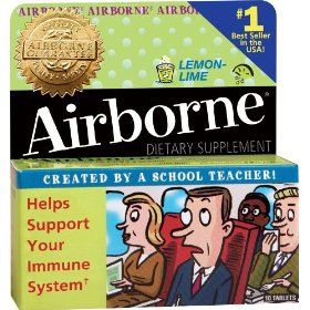 Airborne- effervescent adult formula, 36tablets lemon-lime (bonus size)