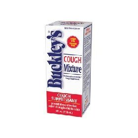 Buckleys mixture cough relief suppressant liquid - 4 oz/ pack, 2 pack