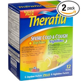 Theraflu severe cold & cough (6-daytime, 6-nighttime), 12-count packets (pack of 2)