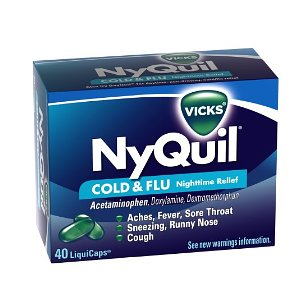 Vicks nyquil cold & flu relief liquicaps, 40-count box
