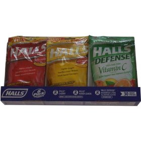 Halls 6 pack 2 halls cherry 2 halls honey lemon 2 defence assorted citris