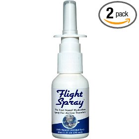 Flight spray, nasal hydration spray, 1-ounce bottles (pack of 2)