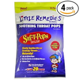 Little remedies soothing throat pops, 20 count package (pack of 4)