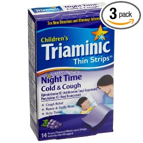 Triaminic night time cold & cough, 14-count thin strips (pack of 3)