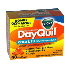 Vicks dayquil cold & flu relief liquicaps, 48-count box