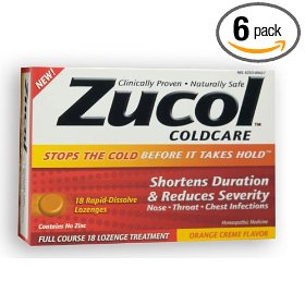 Zucol cold care - orange crΦme zucol coldcare - orange crΦme, 18 rapid-dissolve lozenges, .13 ounces boxes (pack of 6)