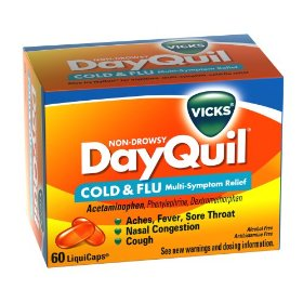 Vicks dayquil cold & flu relief liquicaps, 60-count box