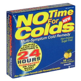 No time for colds multi symptom cold remedy lozenges, lemon - 18 each