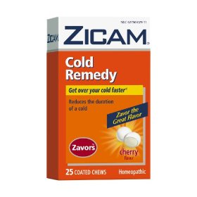 Zicam cold remedy zavors coated chews, cherry,  25-count box