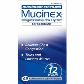 Mucinex-maximum strength guaifenesin extended-release 1200 mg, 42ct (new bonus size)