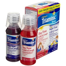 Triaminic day/night cold & cough combo pack, 4-ounce cherry syrup and 4-ounce grape syrup
