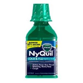 Vicks nyquil cold & flu liquid multi-symptom relief 12 oz (pack of 2)