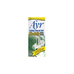 Ayr saline nasal gel, no-drip sinus spray .75 fl oz (22 ml)