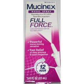Mucinex nasal spray full force 12 hours of relief