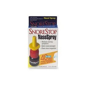 Snorestop nasospray, non-drowsy .13 fl oz (4 ml)
