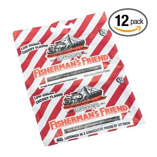 Fisherman's friend low sugar cherry cough suppressant lozenges, 40-count bags (pack of 12)