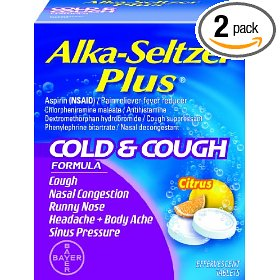 Alka-seltzer plus cold and cough effervescent, citrus flavor, 20-count (pack of 2)