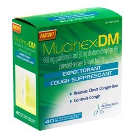 Mucinex dm 12 hour expectorant & cough suppressant 40 extended release bi-layer tablets