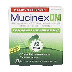 Mucinex dm 14ct max strenth 1200mg