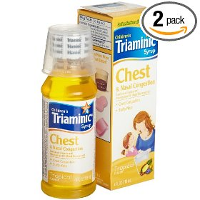 Triaminic chest & nasal congestion syrup, tropical falvor, 4-ounce bottles (pack of 2)
